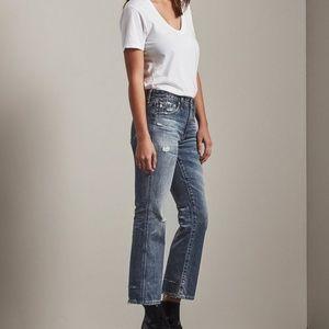 25 NWT AG The Jodi Crop Jeans Wind Worn